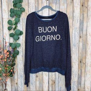 Wildfox 'Buon Giorno' Baggy Oversized Sweater